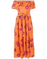 LaDoubleJ - Off-shoulder Print Dress - Lyst