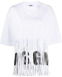 MSGM - フリンジ Tシャツ - Lyst