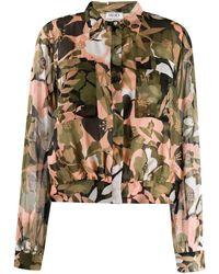 Liu Jo Укороченная Рубашка С Цветочным Принтом - Зеленый
