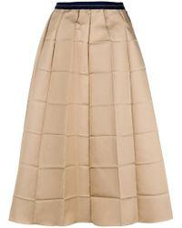 Marni - Folded Check Skirt - Lyst
