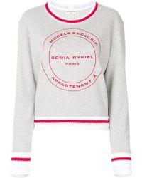 Sonia Rykiel - Logo Print Sweatshirt - Lyst