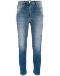 Elisabetta Franchi - Cropped Skinny Jeans - Lyst