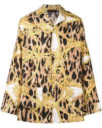 Versace レオパード シャツ - マルチカラー
