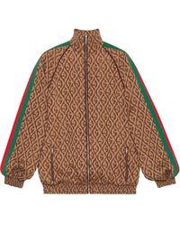 Gucci - Gg ジャカードジップアップスウェットシャツ - Lyst