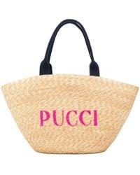 Emilio Pucci - ウーブン ロゴ ハンドバッグ - Lyst