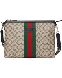 6c25f27a62fc Lyst - Gucci Bengal Gg Supreme Print Messenger Bag in Brown for Men