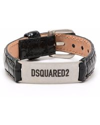 DSquared² Браслет С Гравировкой - Черный