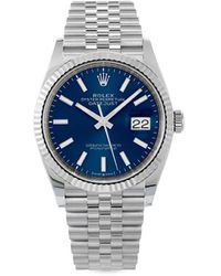 Rolex Наручные Часы Datejust Pre-owned 36 Мм 2021-го Года - Синий