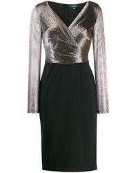 Lauren by Ralph Lauren V-neck Midi Dress - Black