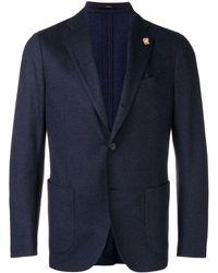 Lardini シングルジャケット - ブルー