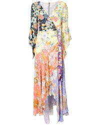 Peter Pilotto - Capitol Xx Collection Wrap Around V-neck Dress - Lyst