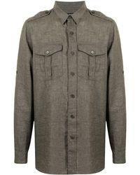MAN ON THE BOON. Camicia con taschino - Verde