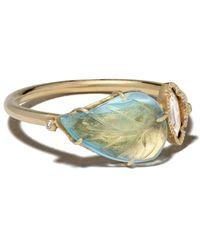 Brooke Gregson 18kt Yellow Gold Diamond Maya Leaf Ring - Metallic