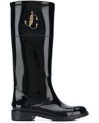 Jimmy Choo Edith 30mm Rain Boots - Black