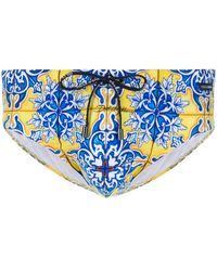 Dolce & Gabbana Zwembroek Met Print - Blauw