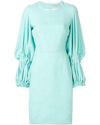 Edeline Lee Georgette Champion ドレス - ブルー