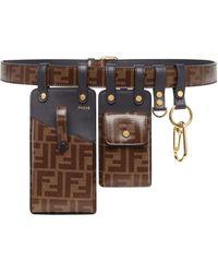 8a3672208b Ff Motif Multi-pouch Belt - Brown