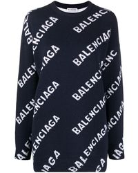 Balenciaga ロゴ セーター - ブルー