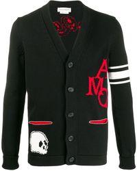 Alexander McQueen Vest Met V-hals - Zwart