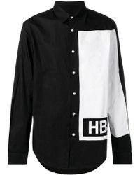 Hood By Air - Contrast Long-sleeve Shirt - Lyst