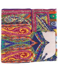 Etro Sjaal Met Paisley-print - Geel