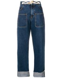 JW Anderson Rope-detail Slouched Jeans - Blue