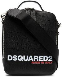 DSquared² ロゴ メッセンジャーバッグ - ブラック