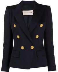 Alexandre Vauthier Engraved Button Double-breasted Blazer - ブルー