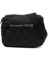 Alexander McQueen Heuptas Met Logoprint - Zwart