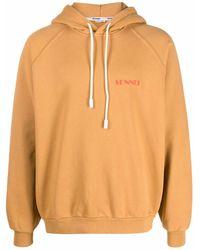 Sunnei Logo-print Cotton Hoodie - Orange