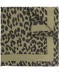 Ganni Платок С Леопардовым Принтом - Зеленый