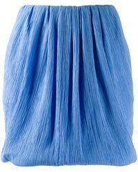 Nina Ricci マイクロプリーツ ミニスカート - ブルー