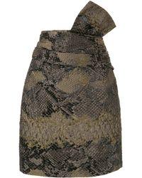 Lanvin スネークパターン スカート - ブラック