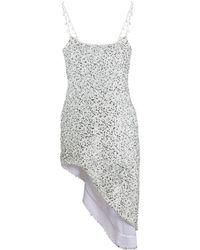 Halpern スパンコール ドレス - ホワイト