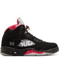 Supreme Air Jordan 5 Retro Sneakers - ブラック