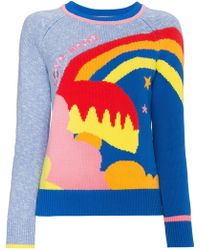 Mira Mikati - Love More Embroidered Intarsia Knitted Jumper - Lyst