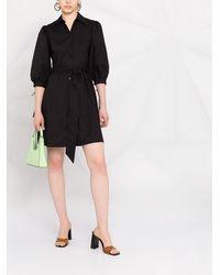Liu Jo プリーツ シャツドレス - ブラック