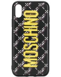 Moschino Logo-print Iphone Xs Case - Black
