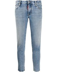DSquared² Cropped Jeans - Blauw