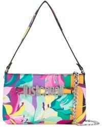 Just Cavalli - Logo Floral Print Handbag - Lyst