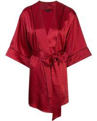Kiki de Montparnasse Vestaglia con stampa - Rosso