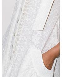 Evi Grintela Vestido Look17a con botones - Blanco