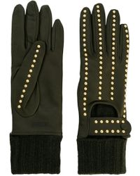 Moschino - Studded Gloves - Lyst
