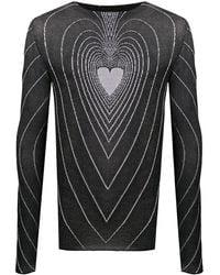 Marni ハート セーター - ブラック
