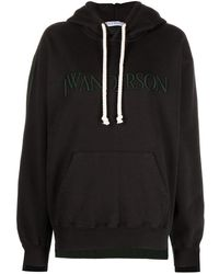 JW Anderson Deconstructed Fleece Back Hoodie - ブラック