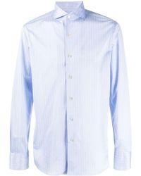 Canali ストライプ Tシャツ - ブルー