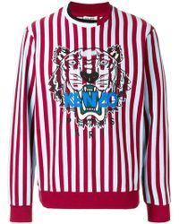 KENZO | Striped Tiger Sweatshirt | Lyst