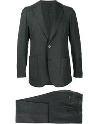 Tombolini Karierter Anzug - Grau