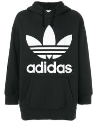 adidas - Trefoil Hooded Sweatshirt - Lyst