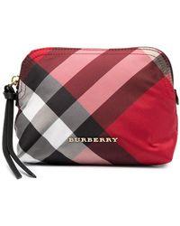Burberry Косметичка В Клетку Vintage Check - Красный